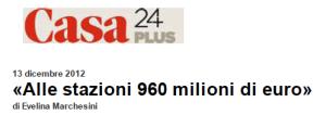 121213 Alle stazioni 960 milioni di euro - Il Sole 24 ORE