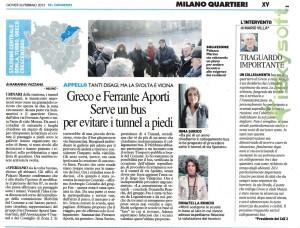 articolo IlGiorno 26-2-2015- Greco e Ferrante Aporti, serve un bus